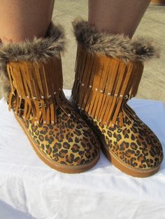Scandalous Cheetah Boots  Size 5.5 thru 10