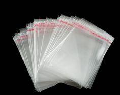 DoreenBeads hot-  200 PCs Clear Self Adhesive Seal Plastic Bags 6x4cm (B04010)