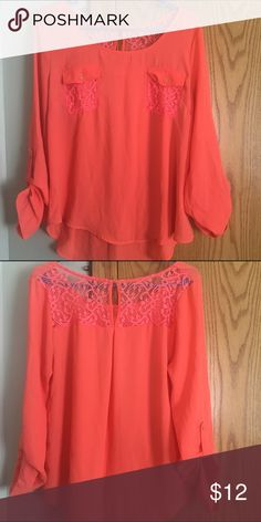 Coral blouse Great shirt for the beach Tops Blouses