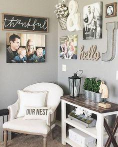 66 best farmhouse living room remodel ideas (21)  #RemodelingIdeas