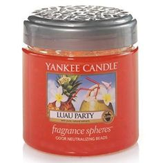 Fill your space with the scents of orange fizz, sparkling peach and vanilla ice with the Luau Party Fragrance Spheres by Yankee Candle. They are the perfect solution to areas where candles are not convenient.