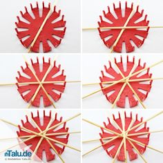 Make straw stars yourself – 5 simple instructions – Talu. German Christmas Decorations, Christmas Ornaments To Make, Vintage Christmas, Christmas Crafts, Straw Crafts, Straw Weaving, Bamboo Crafts, Arts And Crafts, Paper Crafts