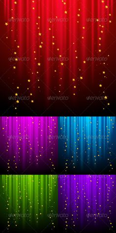Abstract Backgrounds with Shooting Stars. - Backgrounds Decorative