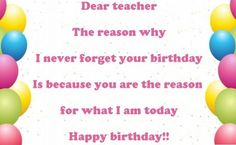 Happy Birthday Wishes for Teacher Images, Messages and Quotes