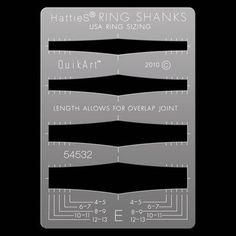 HattieS® QuikArt™ Ring Shank Templates - E
