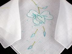 Vintage Embroidered Cotton Hankie by littlebitvintage2 on Etsy, $3.99