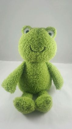 """Carters Green Frog Plush Stuffed Animal Furry Fuzzy Baby Toy Doll 10"""" 2012 in Baby, Toys for Baby, Plush Baby Toys 