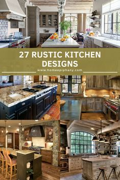 Luxury Kitchens Here are 27 rustic kitchen designs (photo gallery) Rustic Country Kitchens, Country Kitchen Designs, Rustic Kitchen Design, Luxury Kitchen Design, Best Kitchen Designs, Luxury Kitchens, Rustic Design, Cool Kitchens, Kitchen Ideas