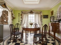 Breakfast room, Scarsdale House, Jayne Design Studio Love this design! The floor is fab.