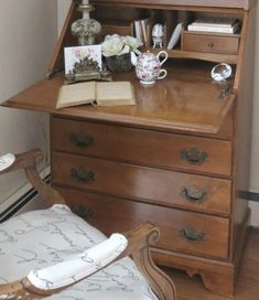 The Brilliant Hack for Turning a Dated Desk into a French Secretary