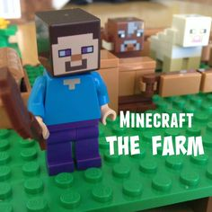 Minecraft Lego The Farm #Minecraft #Toys for kids!  This Farm set is so cool because you can design it in different ways.