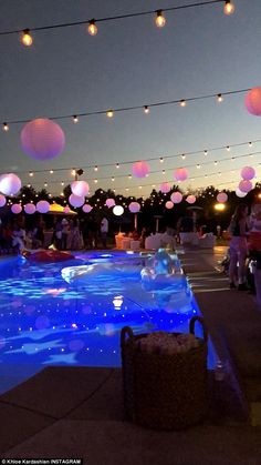 Khloé Kardashian's of July Party Had Kendall Jenner-Ben Simmons PDA, Pool Floaties, and a Lot of Booze Birthday Goals, 18th Birthday Party, Elegant Birthday Party, Girl Birthday, Havanna Party, Sommer Pool Party, Pool Party Decorations, Cool Party Themes, Sweet 16 Party Themes
