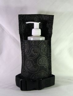 Charcoal Grey Paisley Single Massage Oil Holster by HipHolsters, $18.00