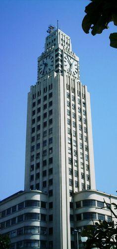 Torre da Central do Brasil, maior relógio quadrangular do mundo, Rio de Janeiro, Brasil