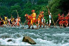 PALIO DELLE ZATTERE 2014 - Rafting race on rafts - Valstagna, Vicenza