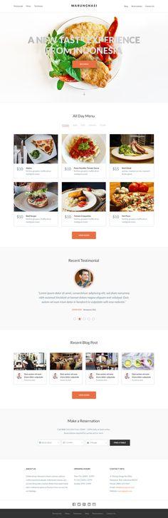Free PSD Template - WarungNasi Restaurant More PSD: 72pxdesigns