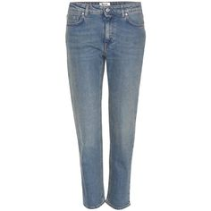 Acne Studios Row Cropped Jeans (17,400 INR) ❤ liked on Polyvore featuring jeans, pants, bottoms, blue, straight leg jeans, acne studios, acne studios jeans, cropped jeans and blue jeans