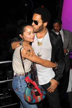 Lenny Kravitz and daughter, Zoe Kravitz My Black Is Beautiful, Beautiful Family, Black Love, Beautiful People, Lenny Kravitz, Lisa Bonet, Hard Rock, Folk Rock, Star Wars