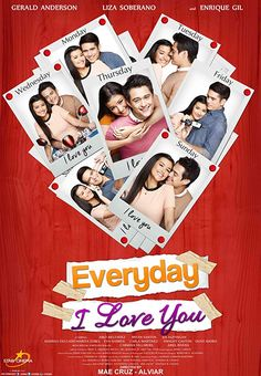 Everyday I Love You Firstly, is talking about two people bound together in the same journey of life and fall for each other in an unexpected way. Enrique Gil, Liza Soberano, Drama Film, Drama Movies, Loving You Movie, Carlos Martinez, I Love You, My Love, Movies Online