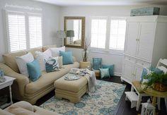 Coastal Cottage Home Decor - Living Room