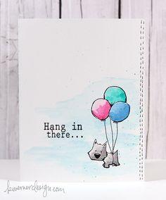 I love her cards !!! Color Wednesday #11 – Inktense Pencils & Tiddly Inks Flying High