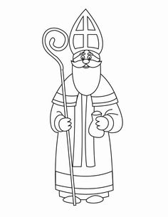 Saint Nicholas Kindergarten New Years Free Coloring Sheets, Colouring Pages, Coloring Pages For Kids, St Nicholas Day, How To Start Knitting, Catholic Saints, Christmas Fun, Father Christmas, Country Christmas