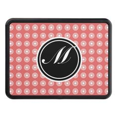 Cayenne Modern Pattern and Monogram Hitch Covers