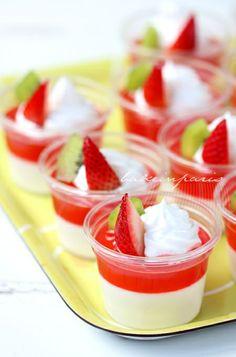 Strawberry Panacotta.