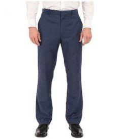 Perry Ellis Solid Texture Flat Front Suit Pants (Bay Blue) Men's Casual Pants