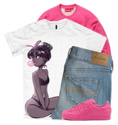 """Come right here, set your bag down I took a night off for you Go ahead and turn the lights off But keep your heels on They're fittin' for what I'm about to do"" by love331 ❤ liked on Polyvore featuring adidas"