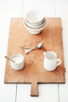 Vintage French Cheese Board via Dreamy Whites