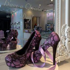 Stunning chocolate heels from MoRoCo Chocolat in Toronto's Yorkville