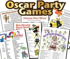 Printable Oscar Party Games Pack with 20 games to add to the party fun - different movie genres are included so there's a chance for everyone to win.