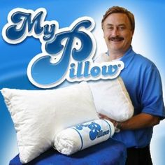 """My Pillow As Seen On TV - """"The World's Most Comfortable Pillow"""" come in 4 different lofts to ensure you get the most restful, comfortable, deep healing sleep of your life! Our Patented 3 piece interlocking fill allows you to adjust the MyPillow® Premium just the way you want while keeping your head and neck cool and comfortable ."""
