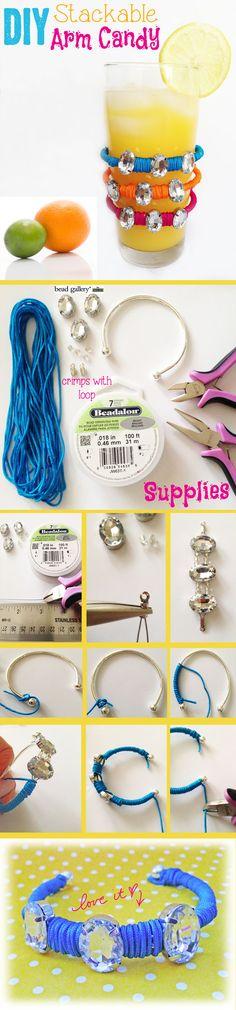 DIY Stackable Arm Candy  Bracelets