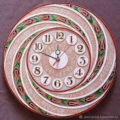 Часы Mandala Art, Mandala Rocks, Mandala Drawing, Clock Craft, Diy Clock, Clock Decor, Aluminum Foil Art, Vinyl Record Art, Rock Design