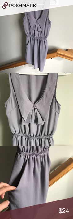 Urban Outfitters Ruffle Top Dress Gently worn, great condition, short in length, ruffle top. 2 front/side picks, gray in color. Purchased at Urban Outfitters, brand is silence+noise. Urban Outfitters Dresses