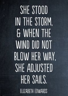 Adjust your sails when necessary, it's your journey!