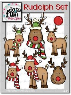 This 16- piece set contains 9 black/white images and 7 colored images. Included are outlined images of Rudolph's head, antlers, and nose for your children to create their own reindeer. Each image is 300 DPI for clear, crisp printing. I hope you enjoy using these images. **This set can be use for personal and commercial use.** Please contact me about special permissions for large commercial use.