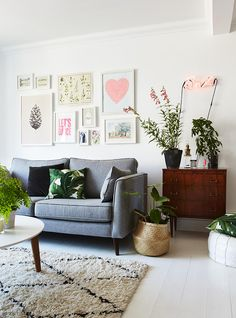 Selina Lake's gorgeous living room. From her book Botanical Style.