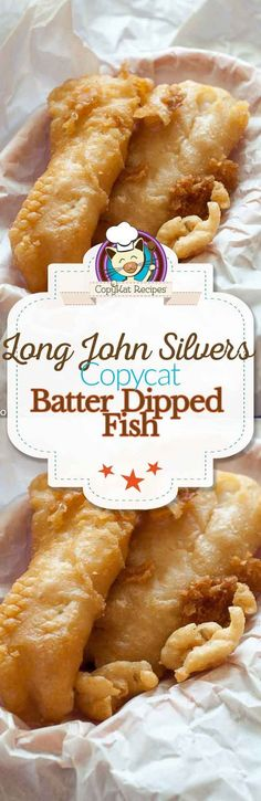 John Silvers Fish Batter Copycat Make your own copycat version of Long John Silvers Crispy Batter Dipped Fish with this easy recipe.Make your own copycat version of Long John Silvers Crispy Batter Dipped Fish with this easy recipe. Fish Dishes, Seafood Dishes, Seafood Recipes, Cooking Recipes, Chicken Recipes, Cod Fish Recipes, Healthy Recipes, Fresh Fish Recipes, Fried Shrimp Recipes
