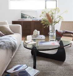 Design Within Reach offers the world's largest selection of authentic modern furniture, lighting and accessories from designers past and present Noguchi Coffee Table, Walnut Coffee Table, Modern Chairs, Modern Furniture, Furniture Design, Design Within Reach, Chair And Ottoman, Living Room Interior, Tables