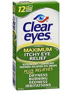 دليل القطرات Clear Eyes Itchy Eye Relief Drops Itchy Eyes Itchy Eye Relief Clear Eyes