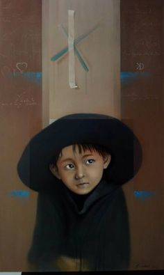 "Saatchi Art Artist Dragan Koleben; Painting, """"The boy"""" #art"