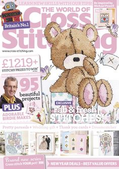 The World of Cross Stitching Issue 224 January 2015 patterns pinned