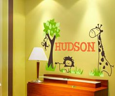 It's a Jungle Out There Wall Decal $48.00 on www.rosenberryrooms.com