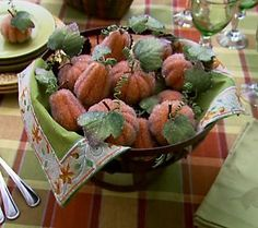 15-piece Beaded Pumpkins by Valerie Parr Hill