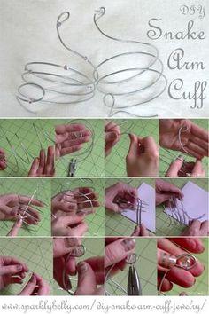 DIY Snake Arm Cuff Jewelry - SPARKLY BELLY