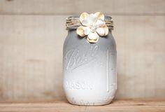 Ombre Mason Jar DIY | Gray mason jars. Not everything needs bold patterns!