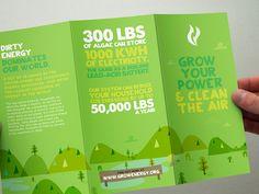 Grow Energy events flyer / illustration / branding
